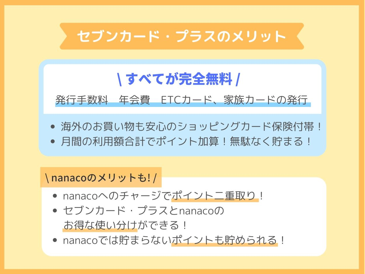 無料でnanacoカードを作るならセブンカード・プラス一択!